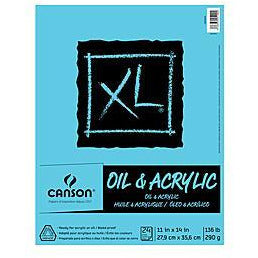 Canson XL Oil & Acrylic Canvas Pad