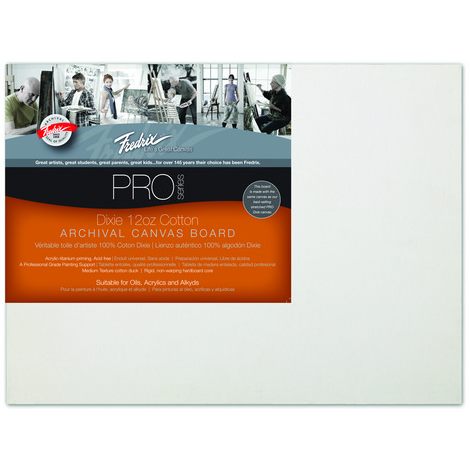 Fredrix Pro Series Dixie Cotton Archival Canvas Board