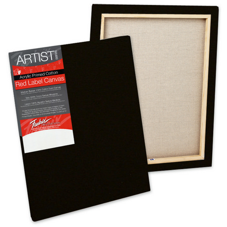 Fredrix Artist Red Label Stretched Black Canvas (Standard)