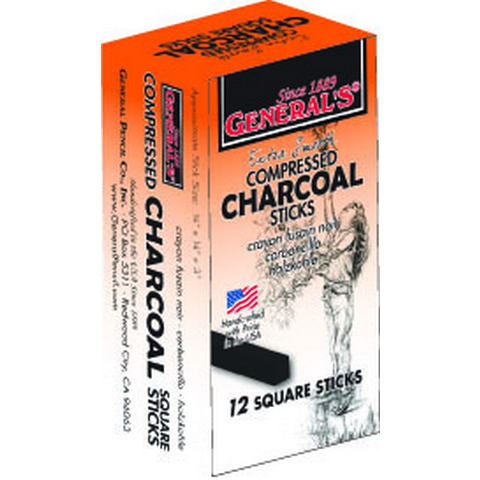 General's Extra Smooth Compressed Charcoal Sticks