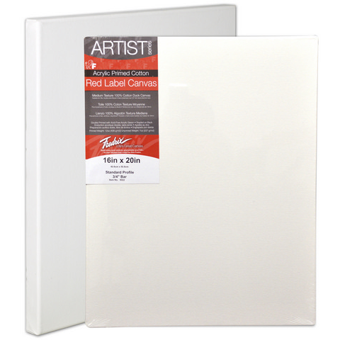 Fredrix Artist Red Label Standard Depth Stretched Canvas