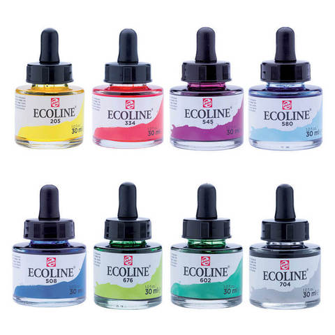 Royal Talens Ecoline Liquid Watercolor (Dropper Bottles)