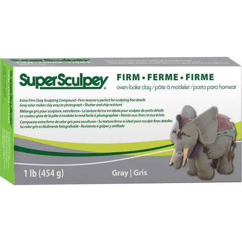 Super Sculpey Firm Grey Modeling Clay