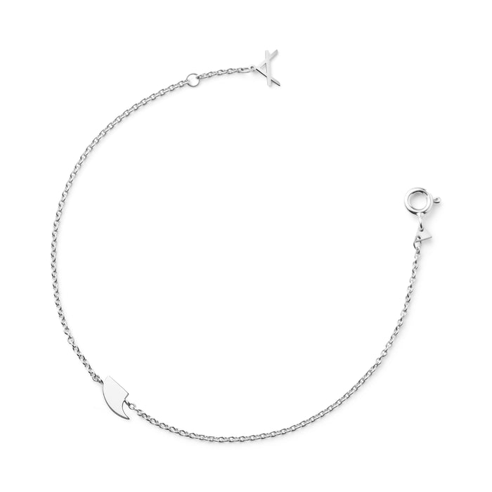 NEW!!! 14 CT WHITE GOLD BRACELET BONDI.X - Delicate Jewellery Australia