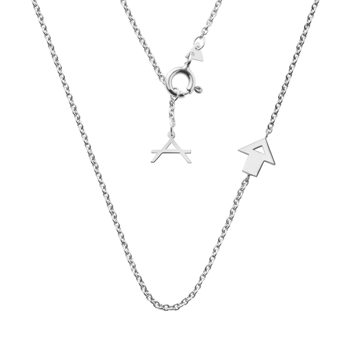 NEW!!! 14CT WHITE GOLD NECKLACE MAROUBRA.X - Delicate Jewellery Australia