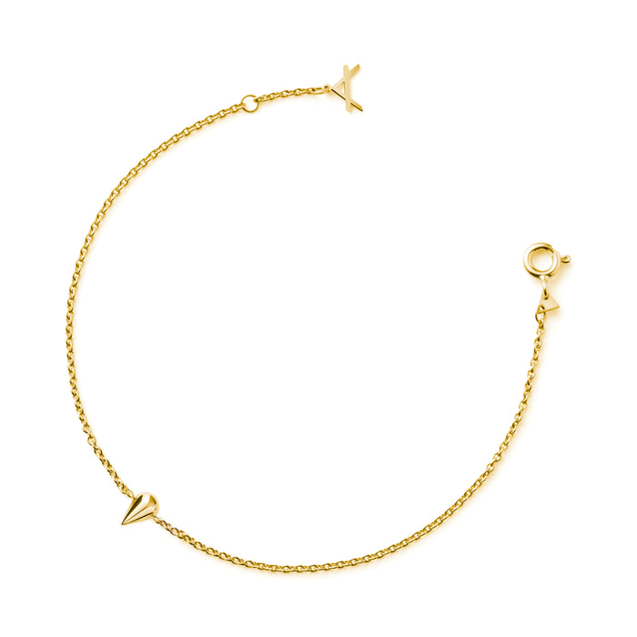 NEW!!! 14CT YELLOW GOLD BRACELET JIBBON.X - Delicate Jewellery Australia