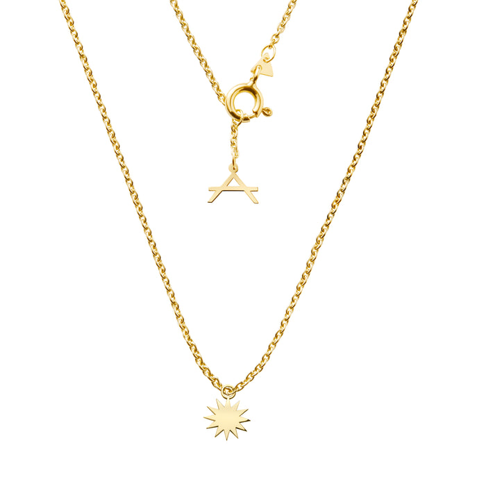 NEW!!! 14CT YELLOW GOLD NECKLACE CRONULLA.X - Delicate Jewellery Australia