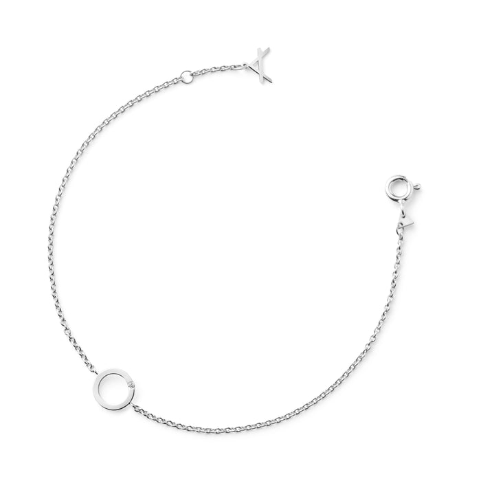 18 CARAT WHITE GOLD BRACELET SHELLY - Delicate Jewellery Australia