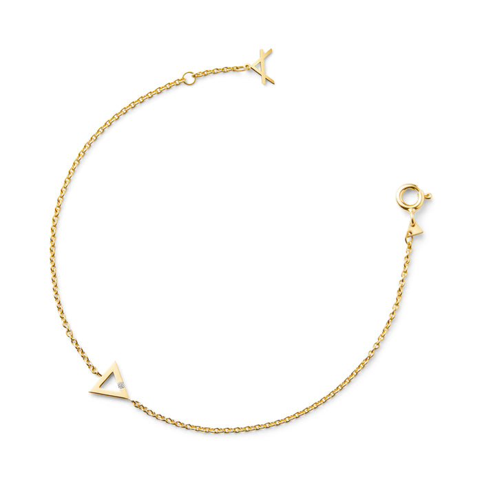 18 ct YELLOW GOLD BRACELET AVALON - Delicate Jewellery Australia