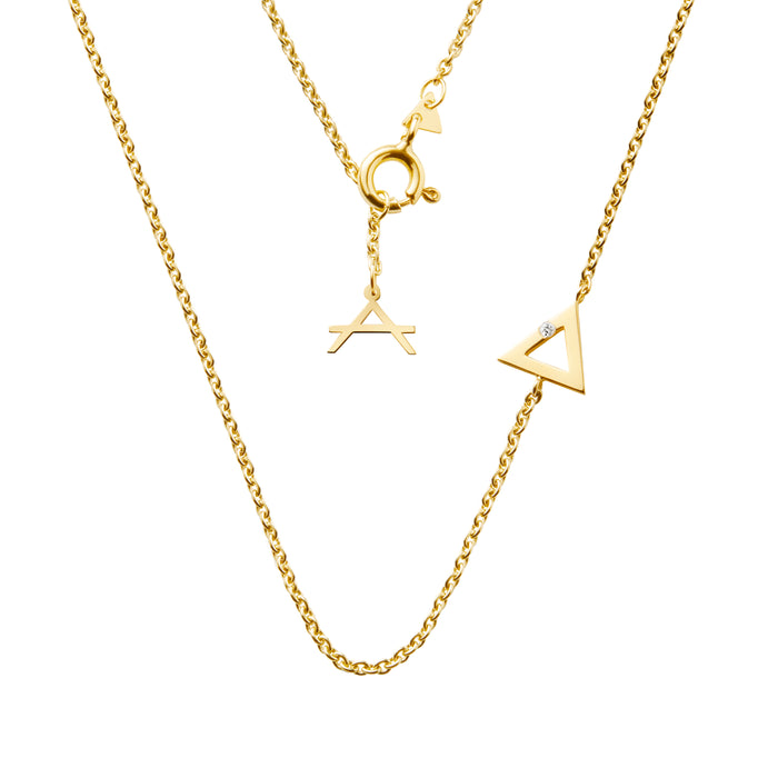 18 CARAT YELLOW GOLD NECKLACE AVALON - Alia Jewellery Sydney