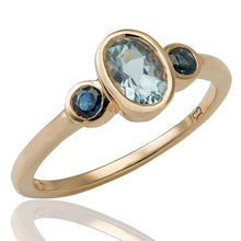 The Maya in Aquamarine and Sapphire