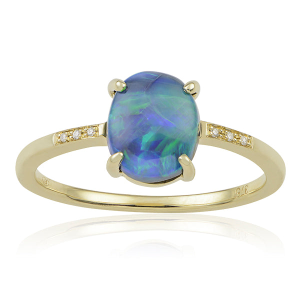Kaia Black Opal Ring