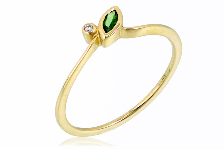The Talulah Ring in Tsavorite