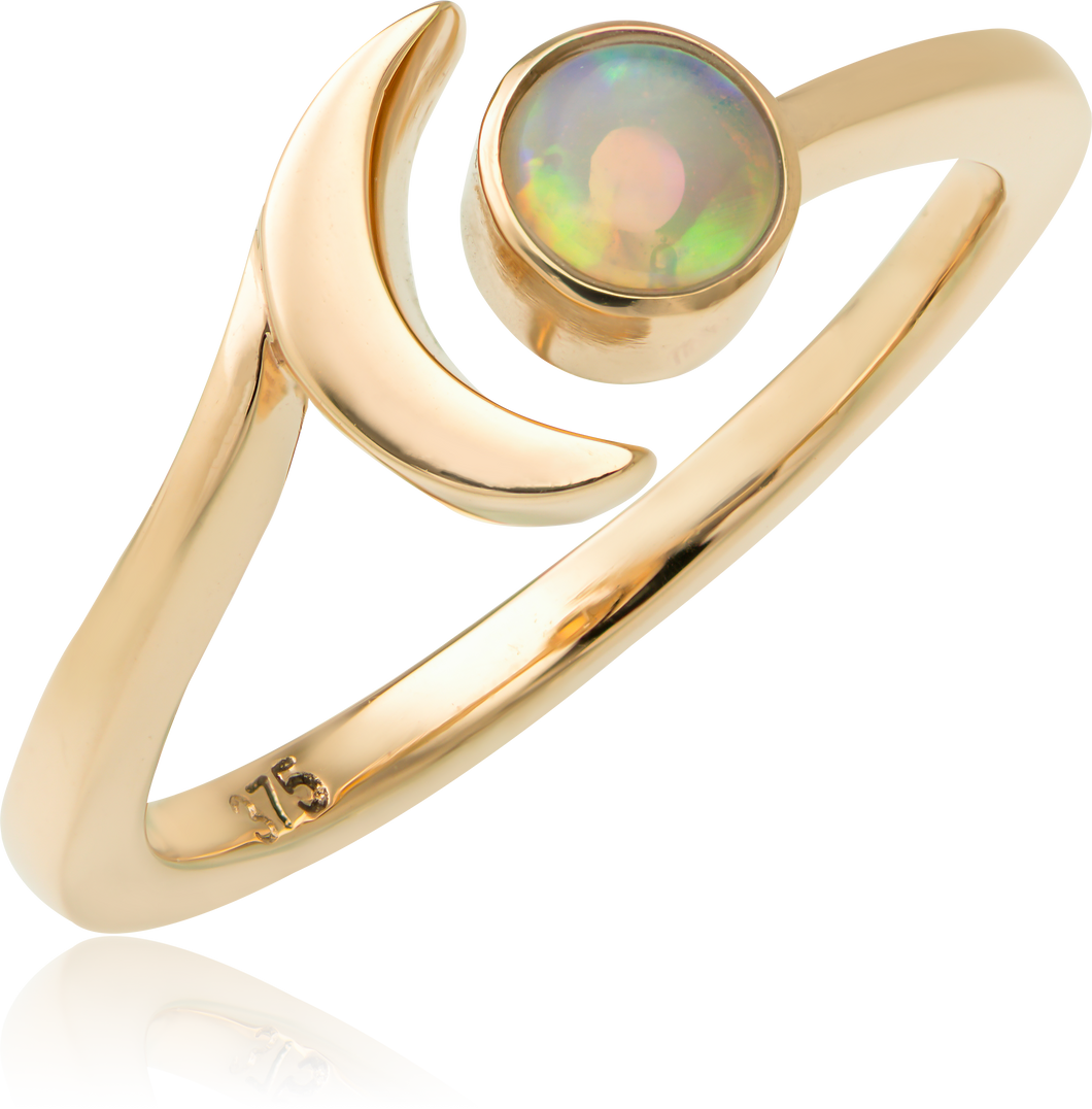 The Sun and Moon Opal Ring