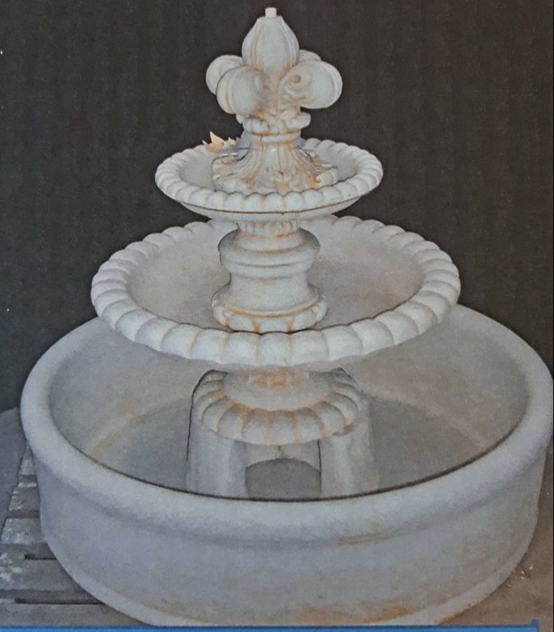 2 Tier Anniversary Fountain With Pond and Surround
