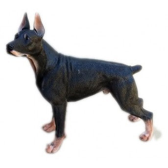 47cm Dobermann Dog Statue