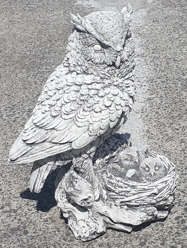 Owl With Nest Concrete