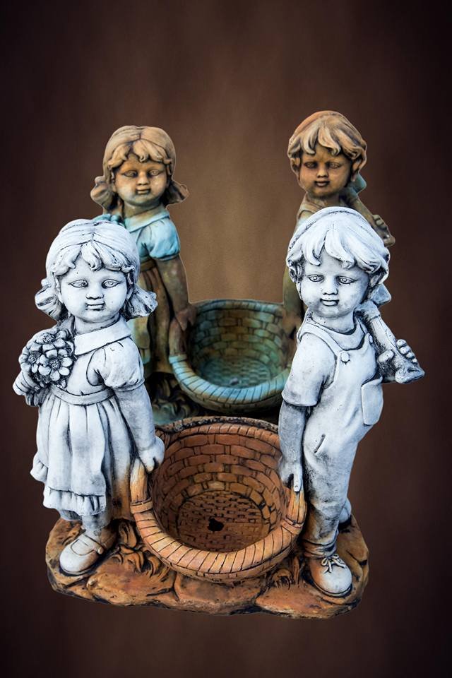 Boy and Girl with Basket
