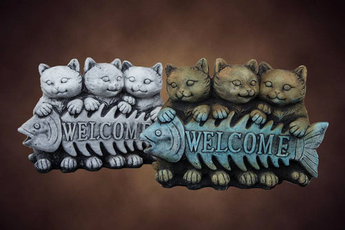 Welcome Cats Concrete