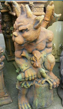 Gargoyle With Prey Statue Concrete