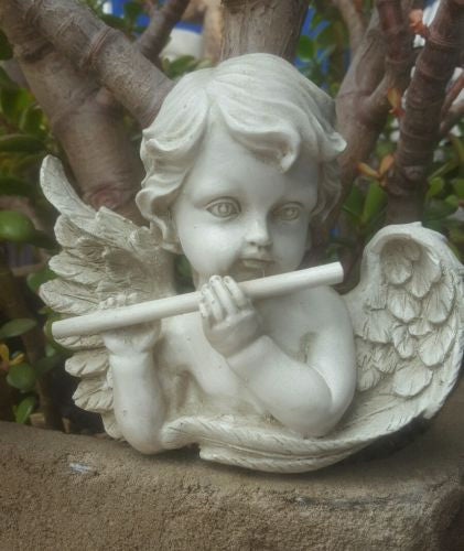 Angel With Flute Wall Hanging Plaque