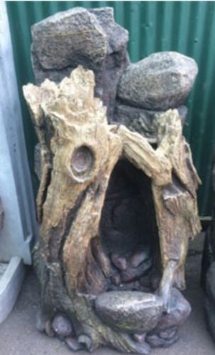 120cm Tree Log Waterfall Fiberglass