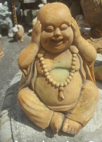 Small Laughing Buddha Concrete