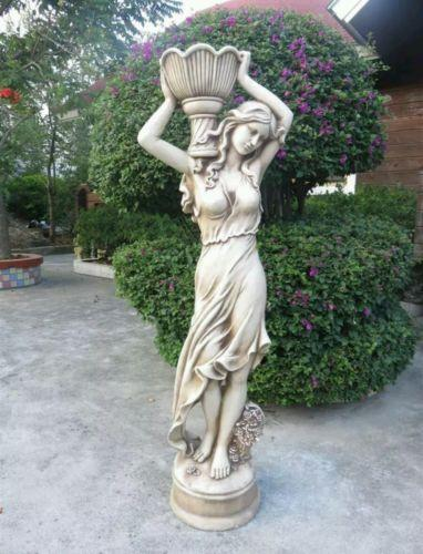 Tall Lady With Vase Right Fiberglass