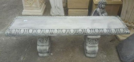 Fancy Straight Bench Grey