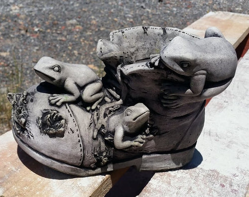 Frogs on Ripped Shoe/Boot Concrete