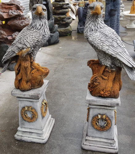 Eagles With Stands Pair Concrete