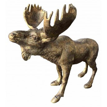 Golden Walking Moose (45cm)