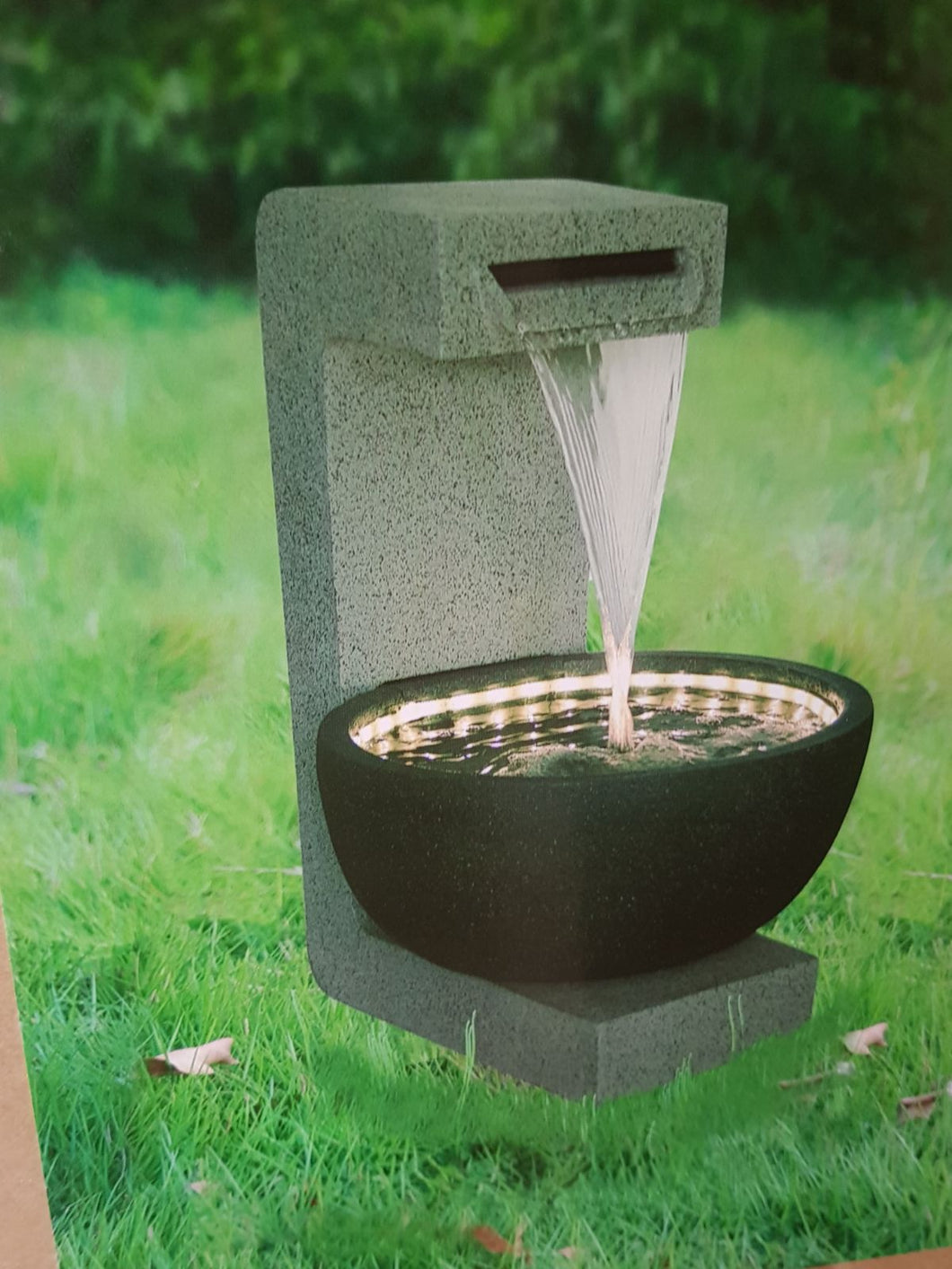 Grey Black LED Fountain Fiberglass
