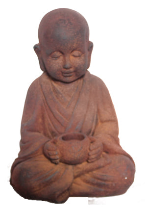 Buddha Sitting With Pot Statue Fiberglass