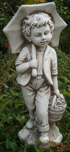Umbrella Boy Statue