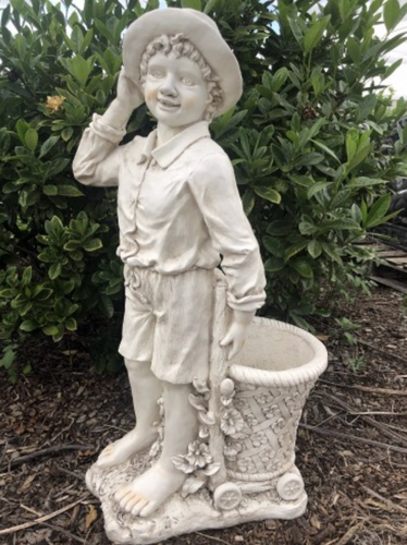 90cm Boy with Planter