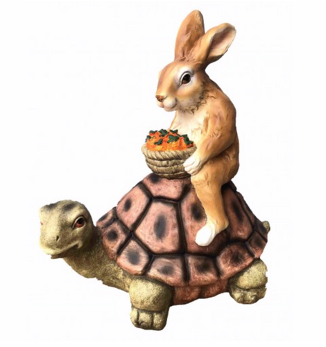 45cm Rabbit on Turtle Fiberglass