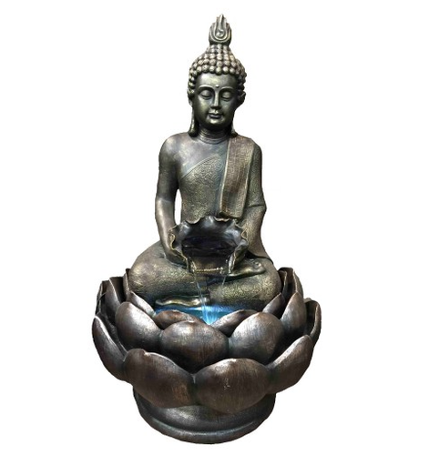 Buddha On Lotus Fountain