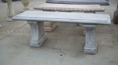 Courtyard Straight Bench Grey