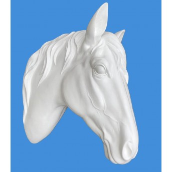 Hanging White Horse Head Wall (55cm)