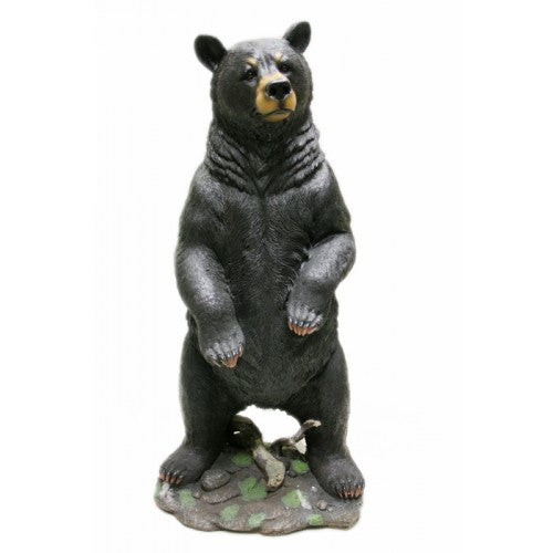 77cm Tall Black Bear Garden Statue