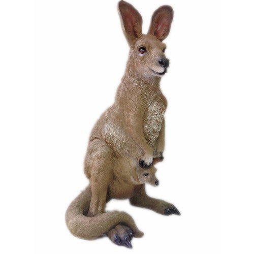 58cm Kangaroo Mum & Child Fiberglass