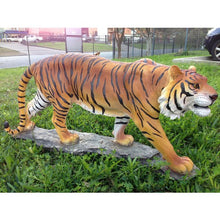 120cm Large Walking Tiger Gold Fiberglass