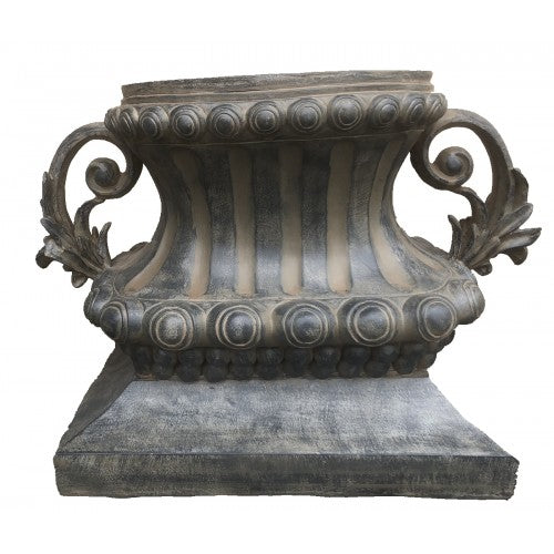 67cm Dark French Urn Fiberglass