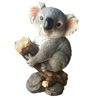 44cm Koala on Log Fiberglass