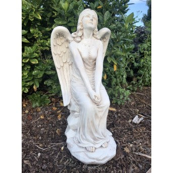 75cm Angel Sitting on Rock