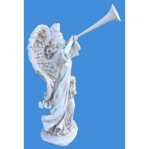 80cm Angel Blowing Horn Statue
