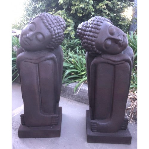 96cm Rusty Buddha Sleeping Set Fiberglass