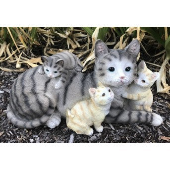 50cm Cat Family Fiberglass