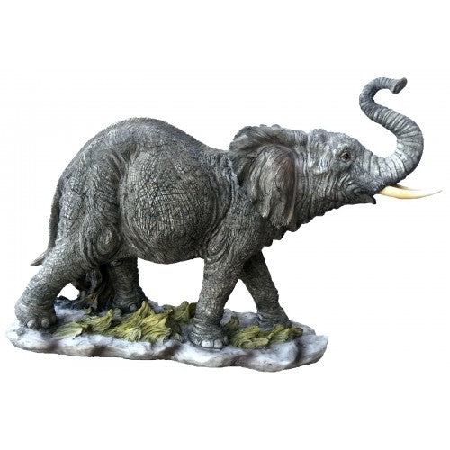 44cm Elephant Walking Fiberglass